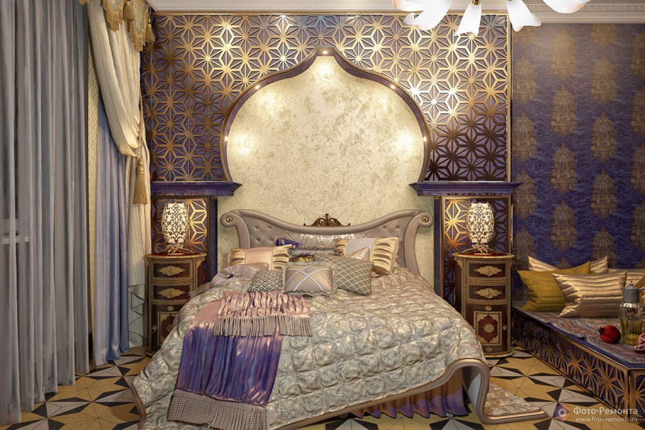 Спальня в восточном стиле дизайн