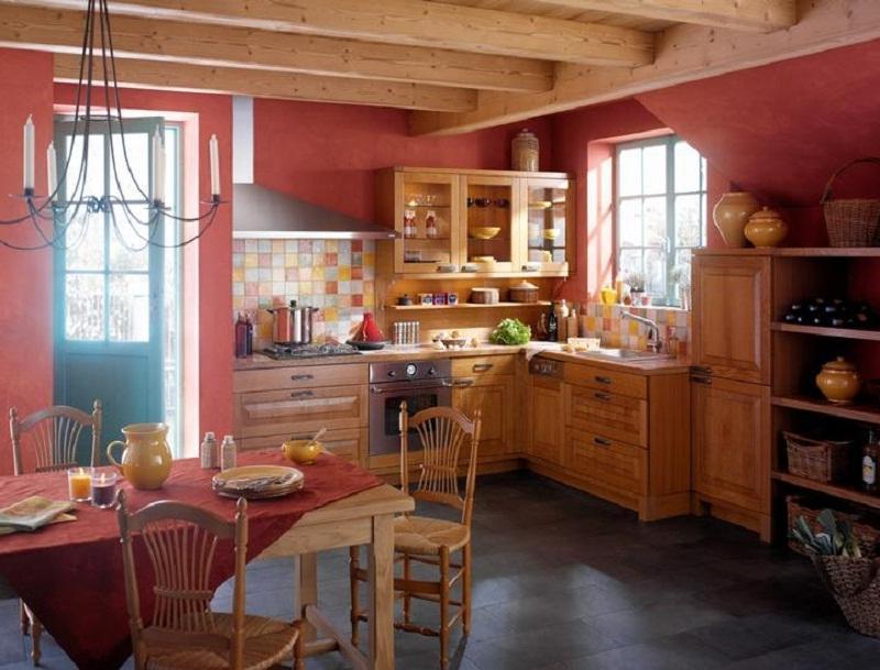 Интерьер комнаты в деревенском доме фото