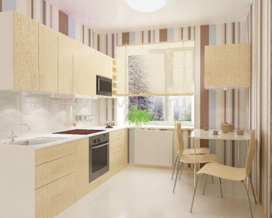 Дизайн кухни прямой 9 кв.м