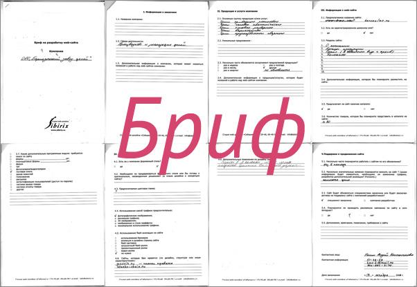 Бриф на разработку дизайна сайта