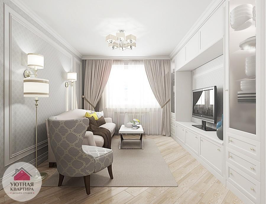 Дизайн двухкомнатной квартиры 60 кв м в светлых тонах