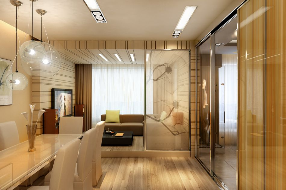 Дизайн двухкомнатной квартиры с одним окном