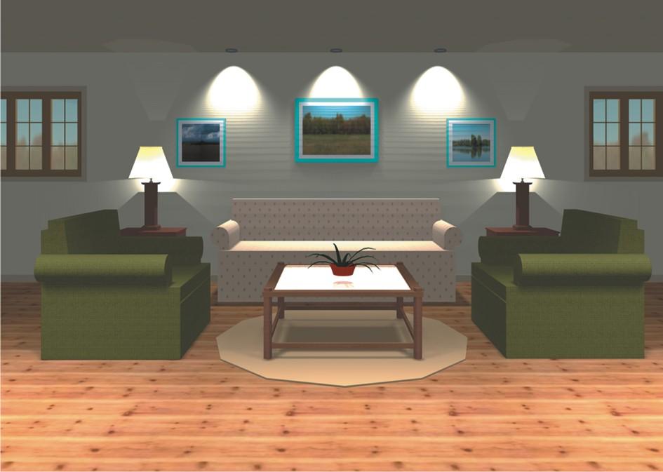 Интерьера для floorplan 3d