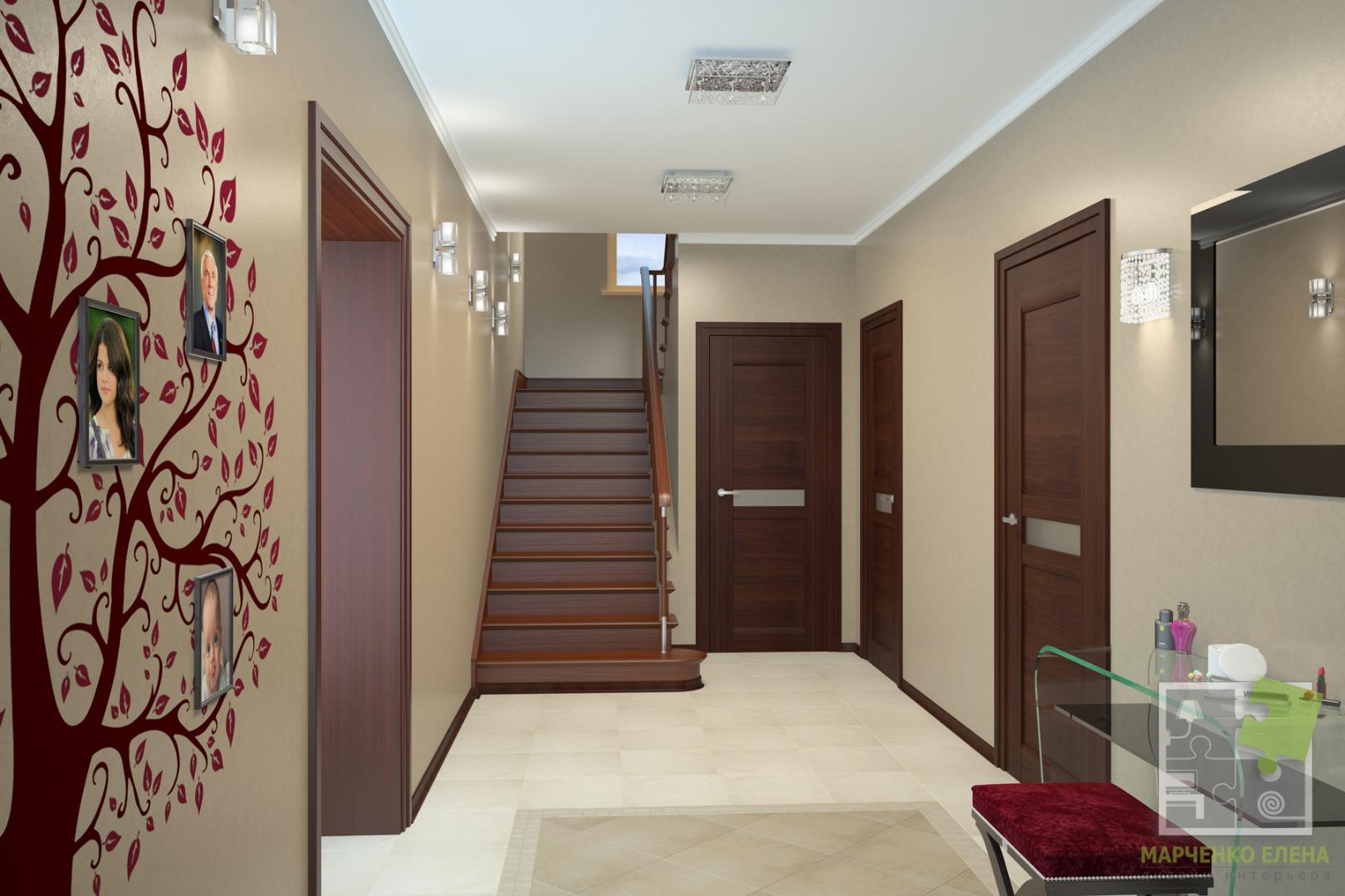 Интерьер коридора в доме фото