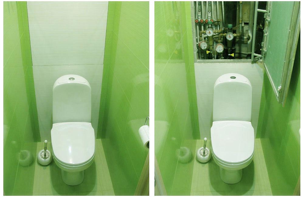 Дизайн туалета маленького размера в панельном доме