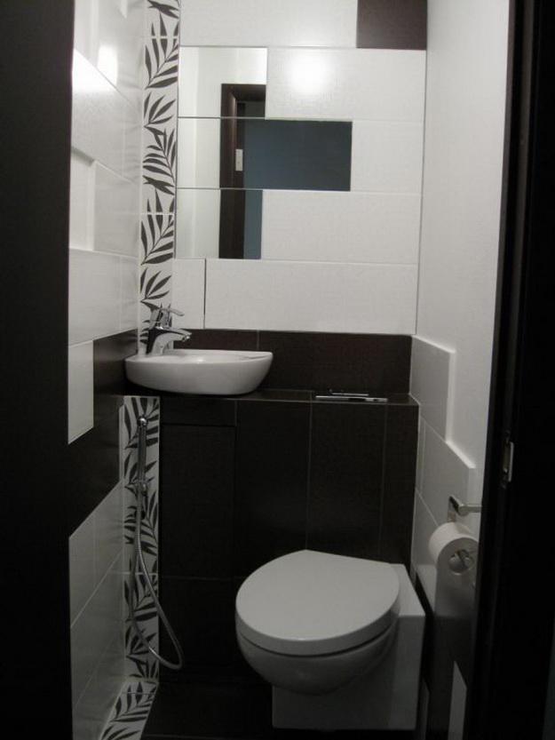 Дизайн для маленького туалета