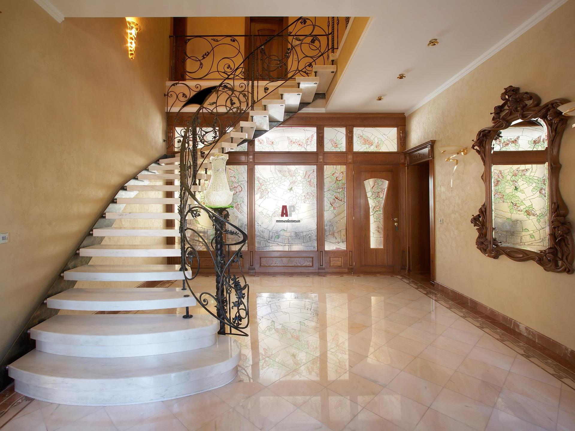 Лестница в частном доме в интерьере фото