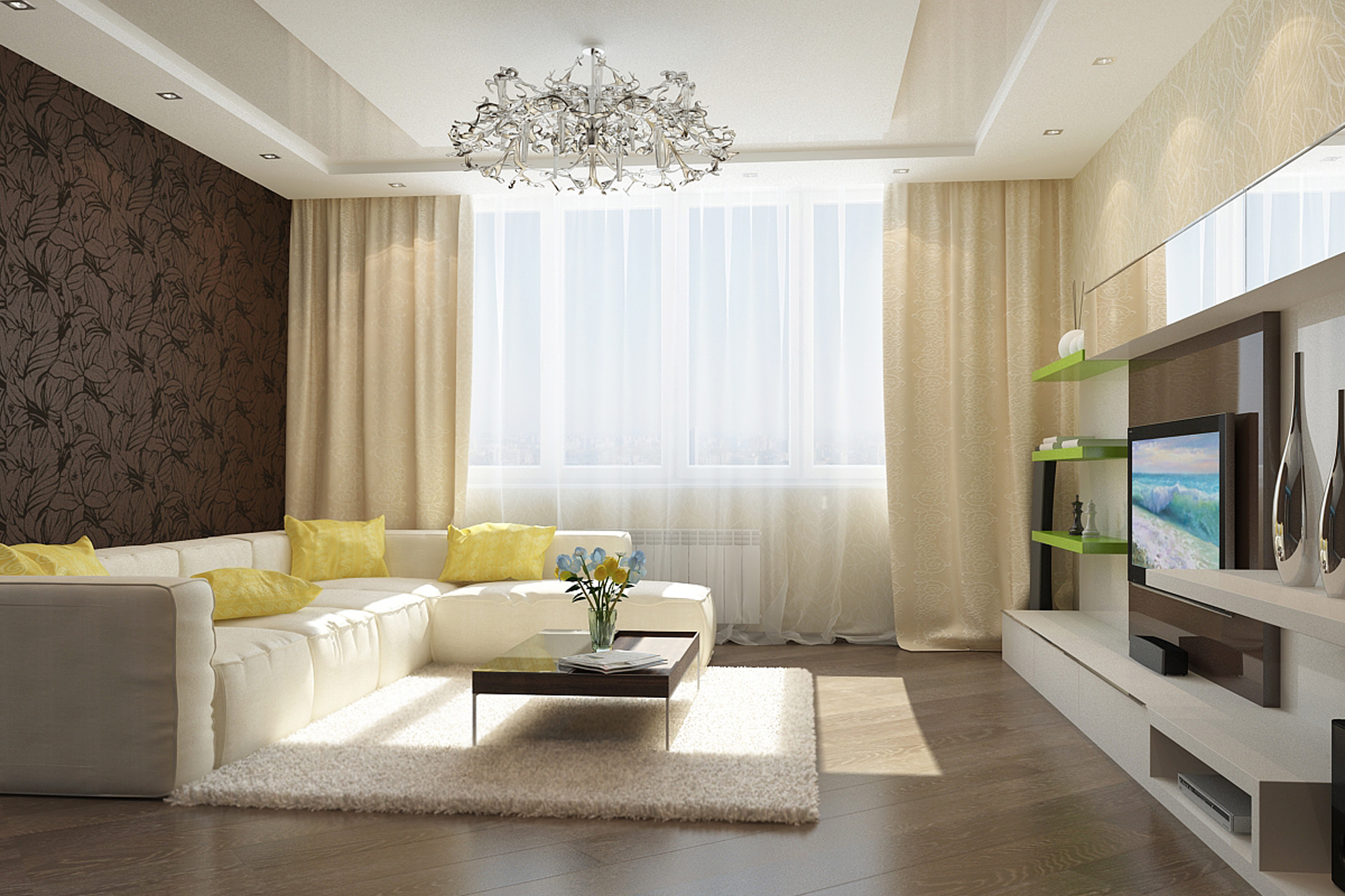 Дизайн гостиной 25 метров с