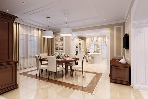Интерьер кухня столовая гостиная в частном доме фото