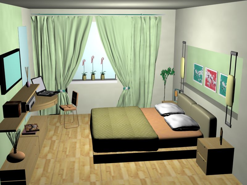 Недорогой интерьер маленькой спальни фото