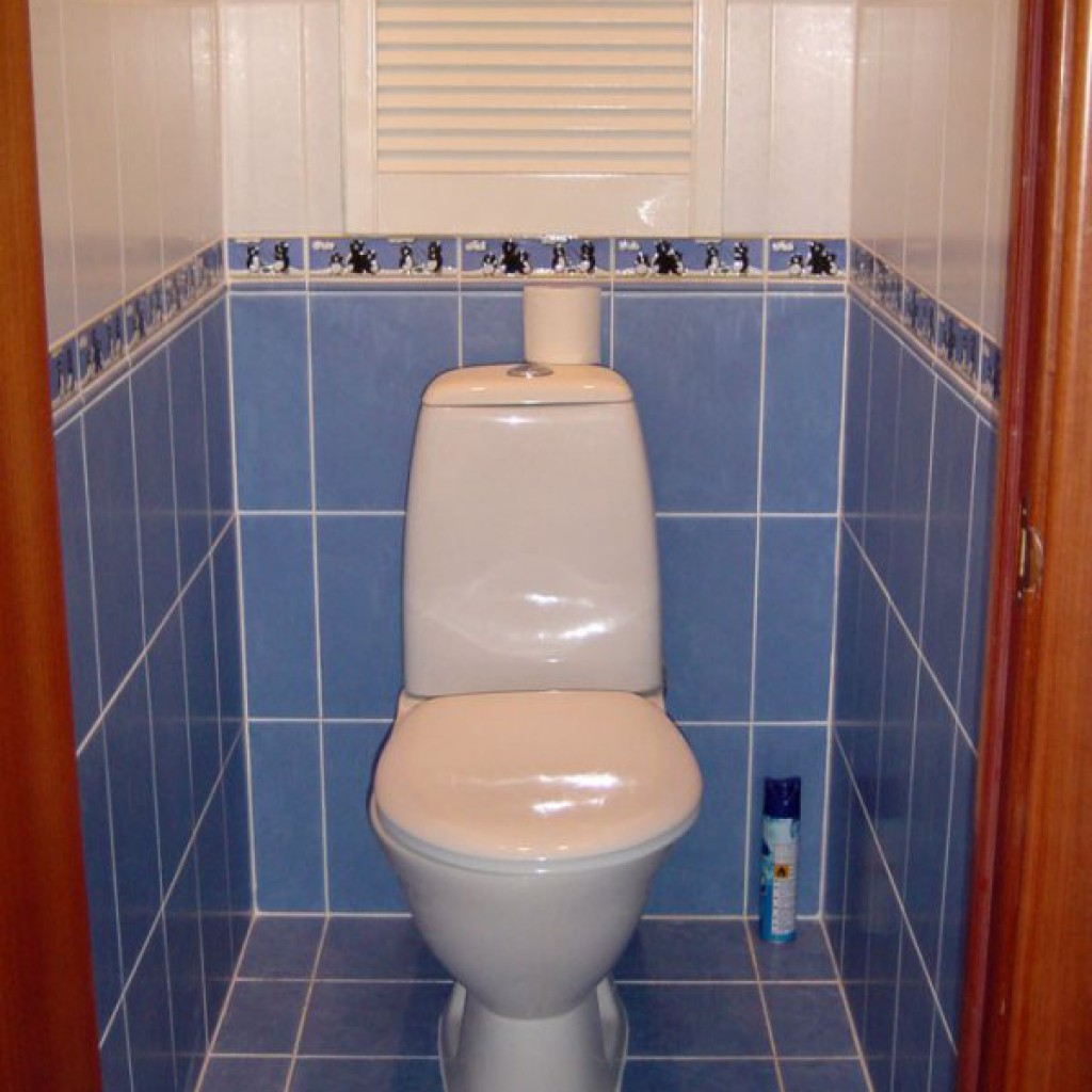 Отделка туалета плиткой дизайн в квартире реальные