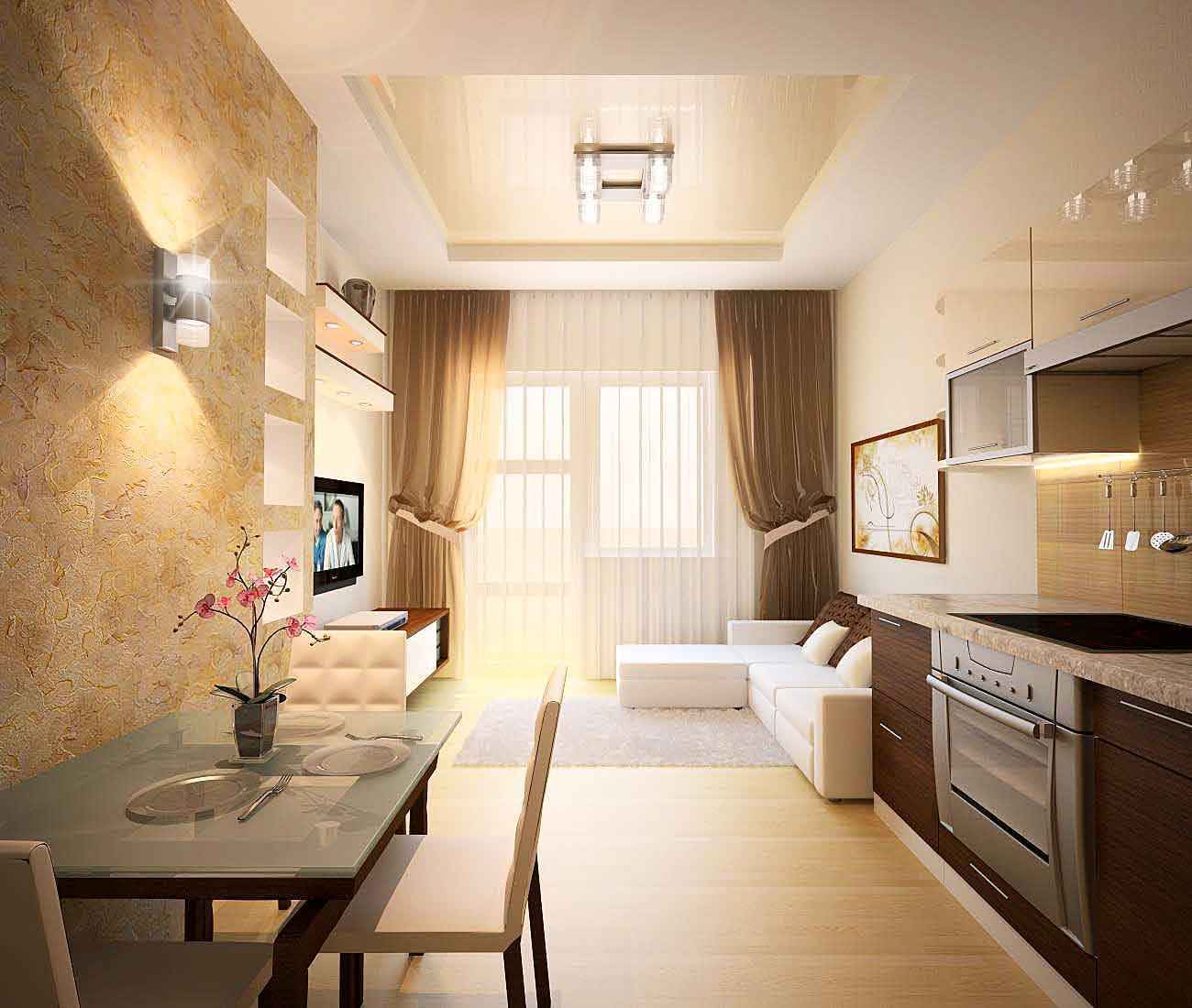 Дизайн 3х комнатной панельной квартиры 67 кв.м
