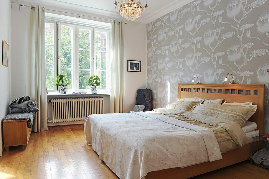 Интерьер окон в спальни