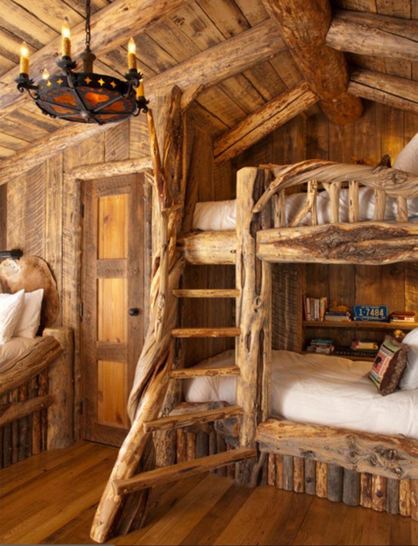 Как украсить комнату в деревянном доме своими руками 55