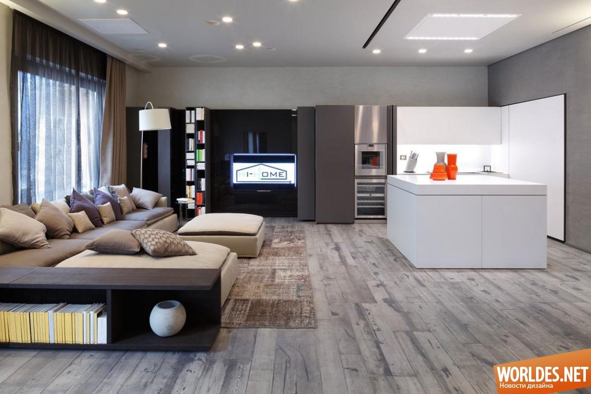 Дизайн и интерьеры квартир хайтек