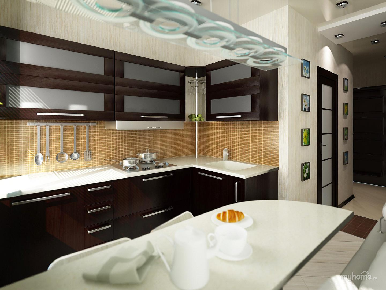 Однокомнатные квартиры кухня дизайн интерьера