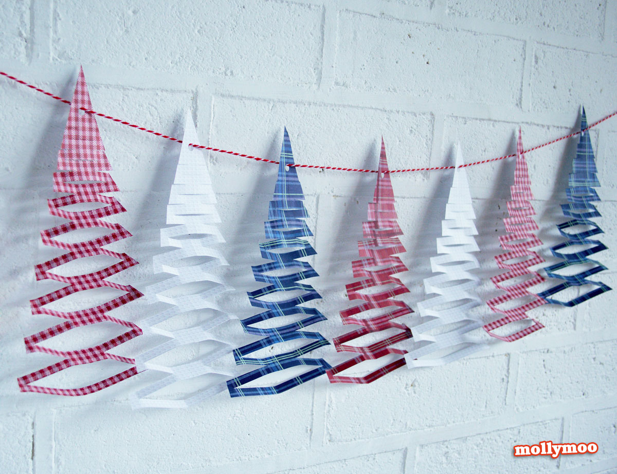 Бумажные гирлянды своими руками новый год