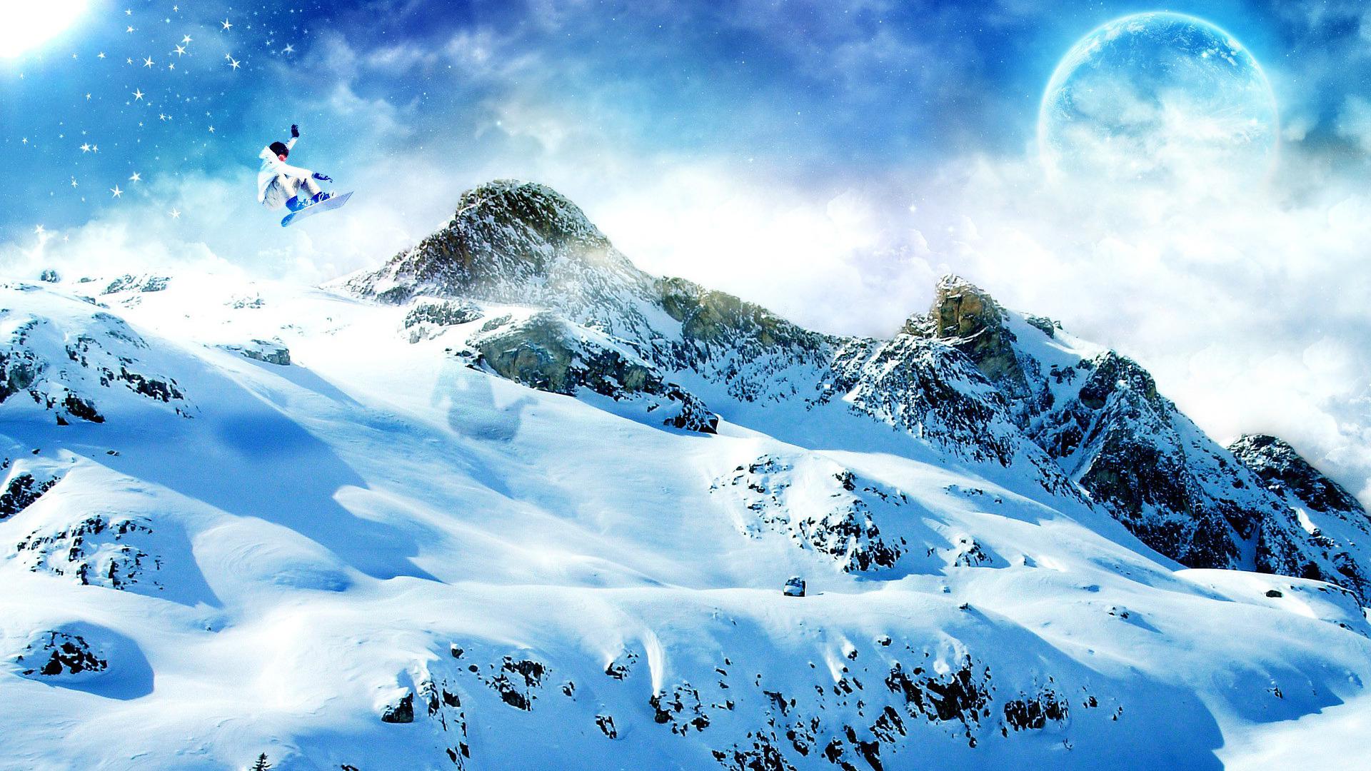 снег ели гора snow ate mountain  № 2479210 бесплатно