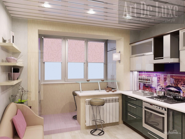 Интерьер кухни 8 кв м с балконом фото