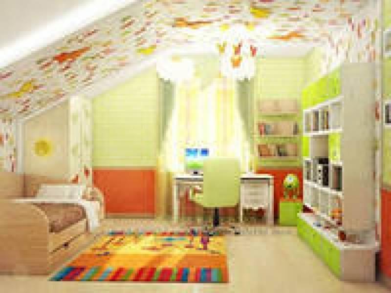 Дизайн детской комнаты на мансарде