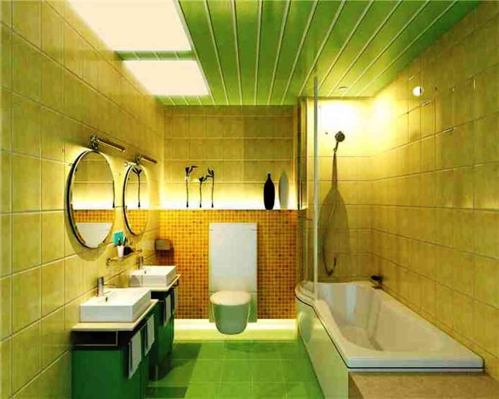 Панельные потолки в ванной дизайн