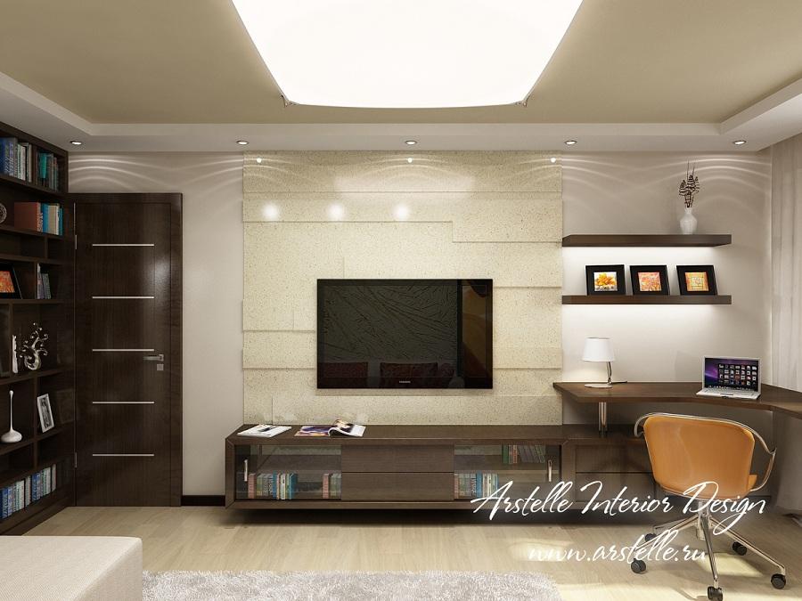 Дизайн зала в трехкомнатной квартире панельного дома