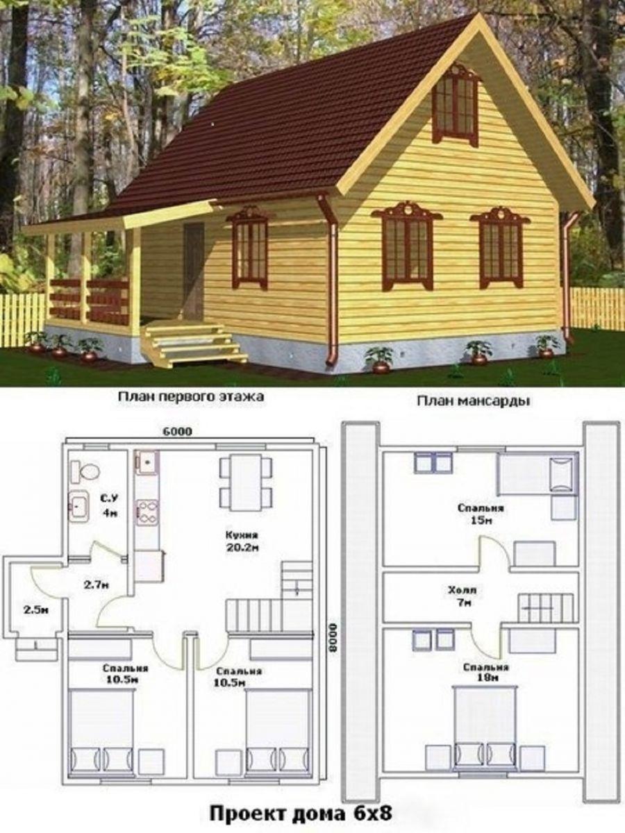"""Проекты домов из бруса с мансардой скачать бесплатно """" Картинки и фотографии дизайна квартир, домов, коттеджей"""