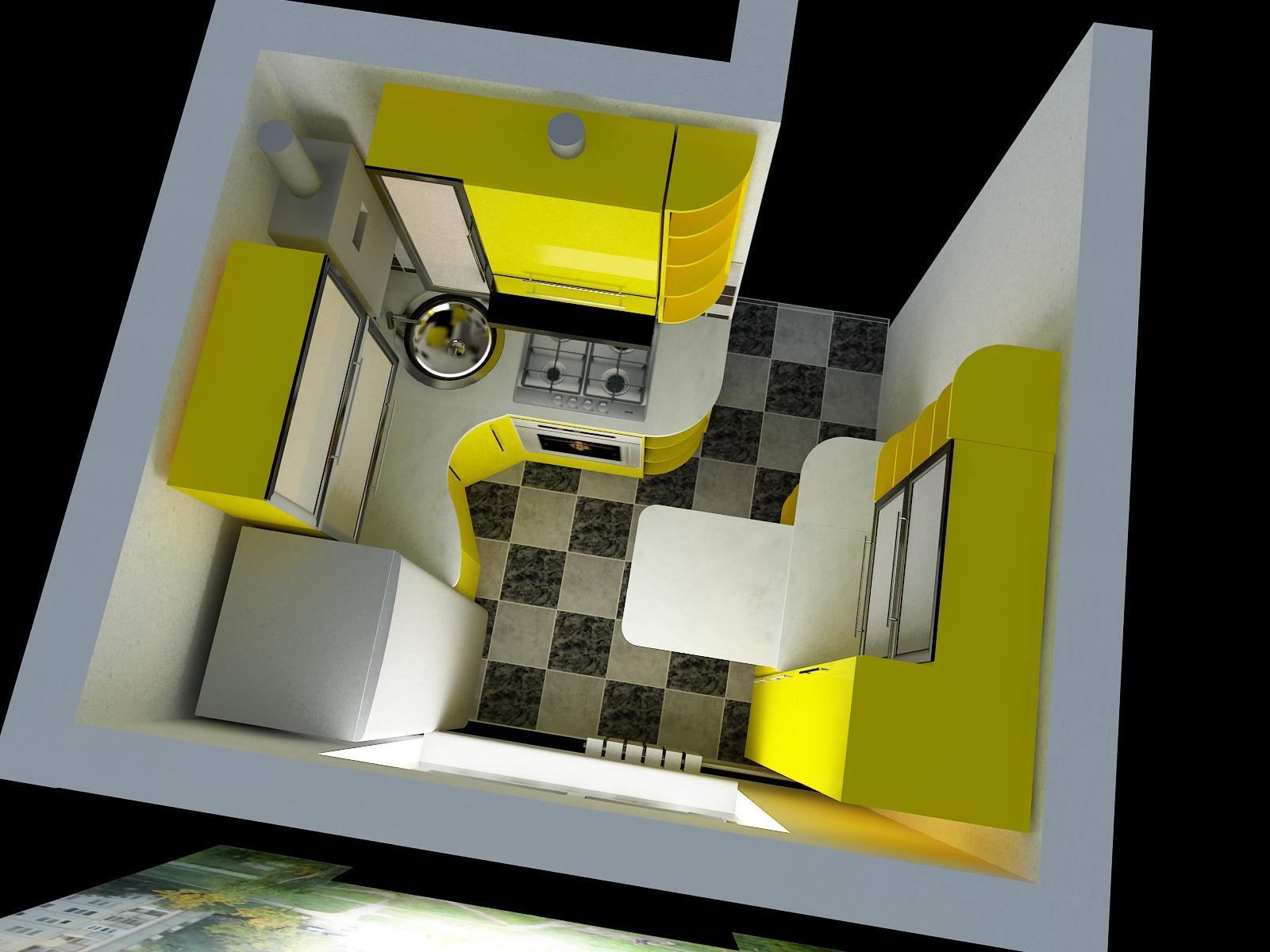 Дизайн кухни небольшой планировки