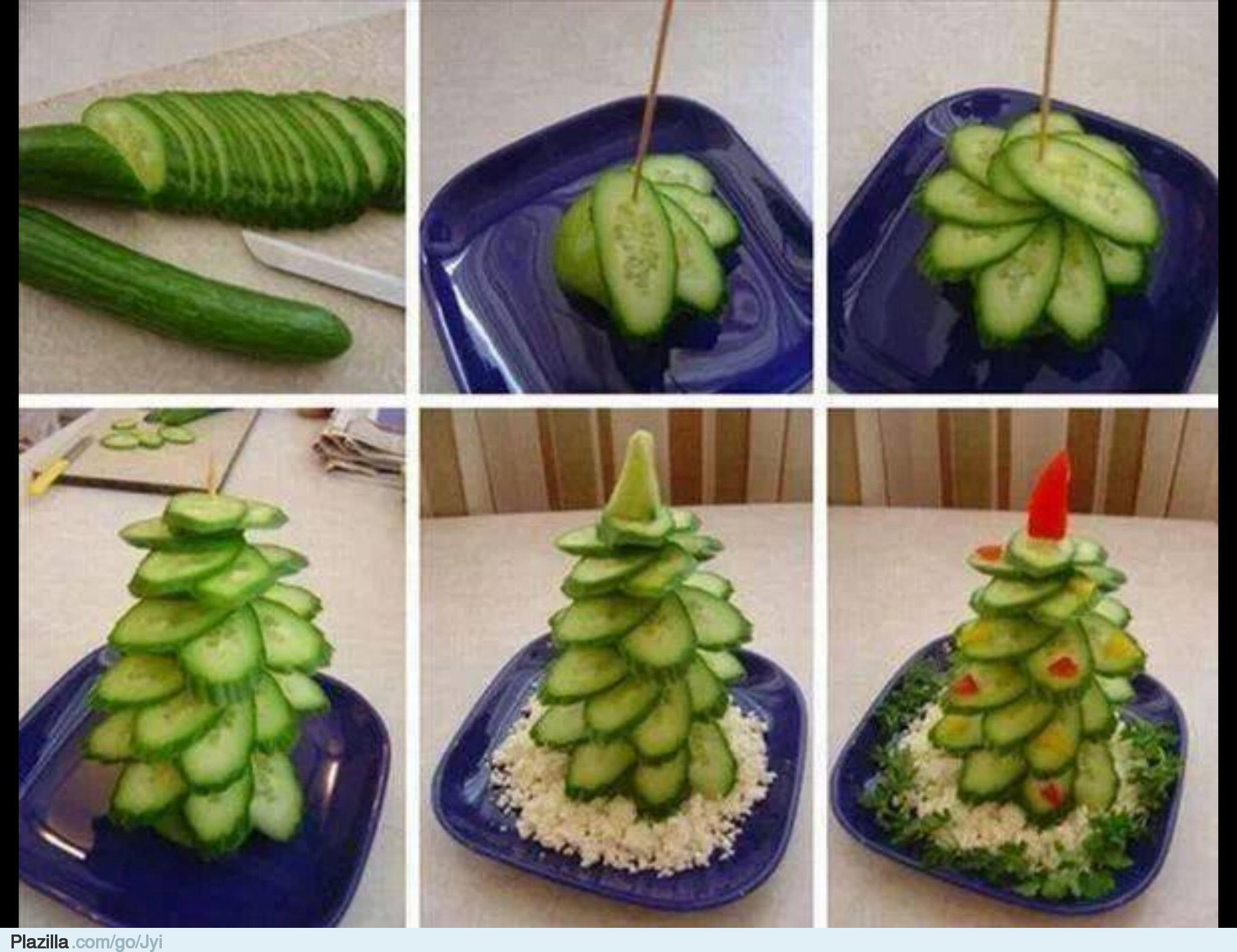 Украшения салатов пошаговое