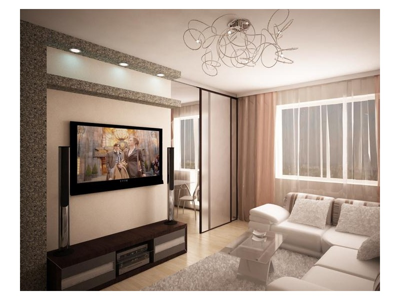 Дизайн 1 комнатной квартиры 40 кв м фото интерьера