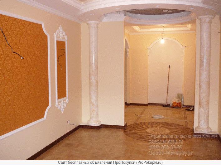 Ремонт лепнина на стене