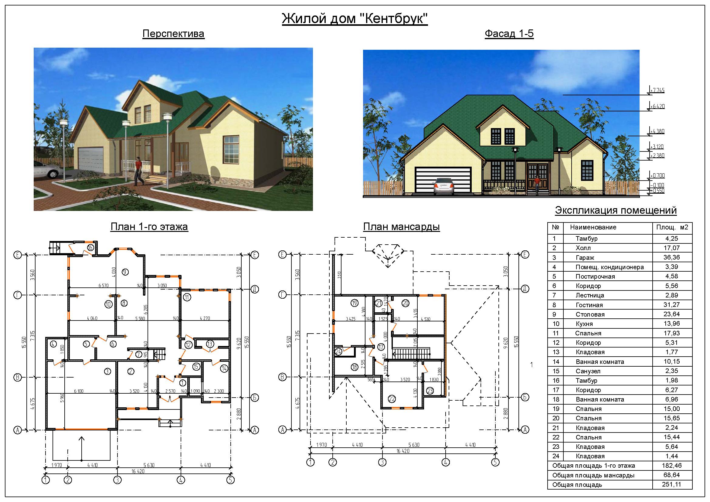 Чертежи одноэтажных домов схемы