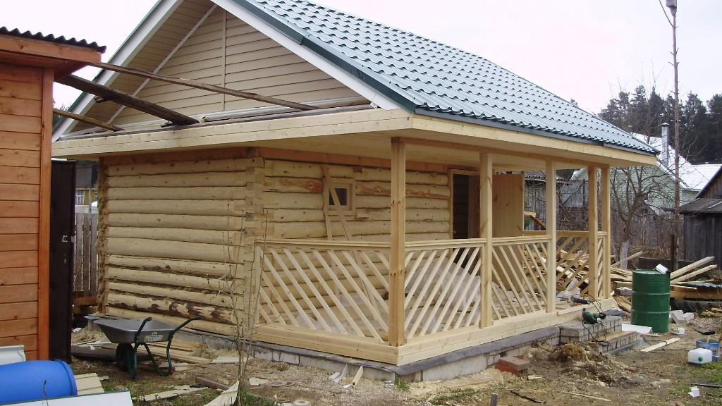 Строительство крыши своими руками бани