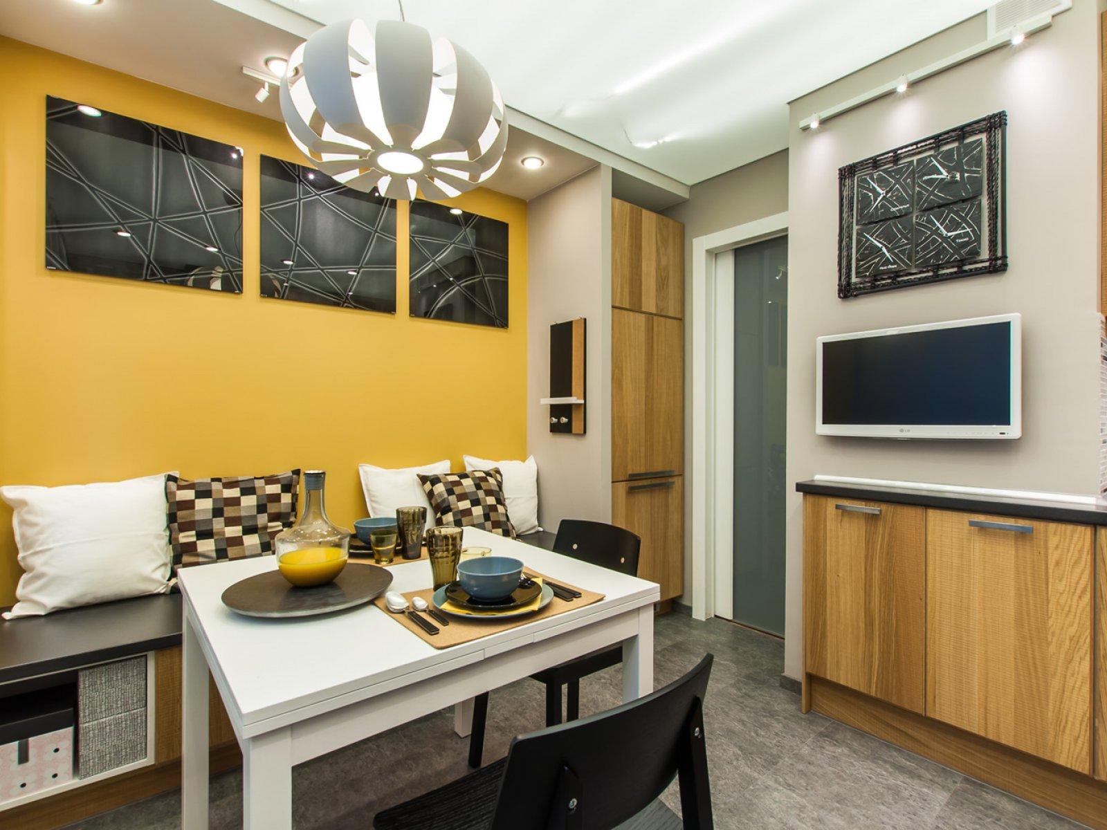 Дизайн квадратной кухни 10 кв м