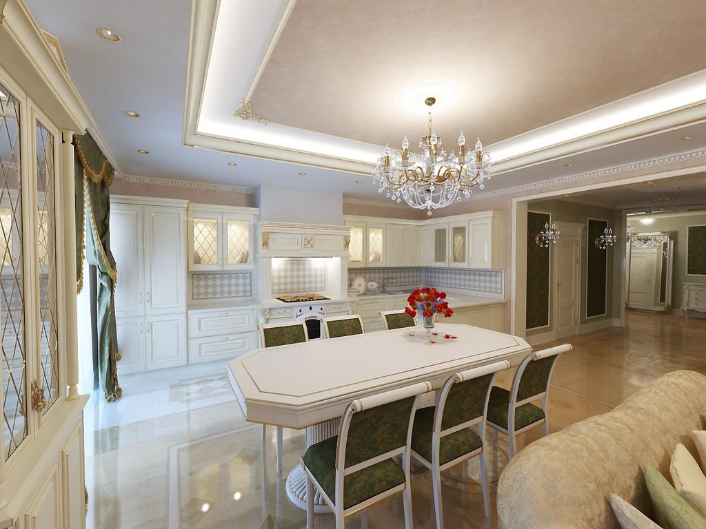 Современный дизайн в классическом стиле в квартире