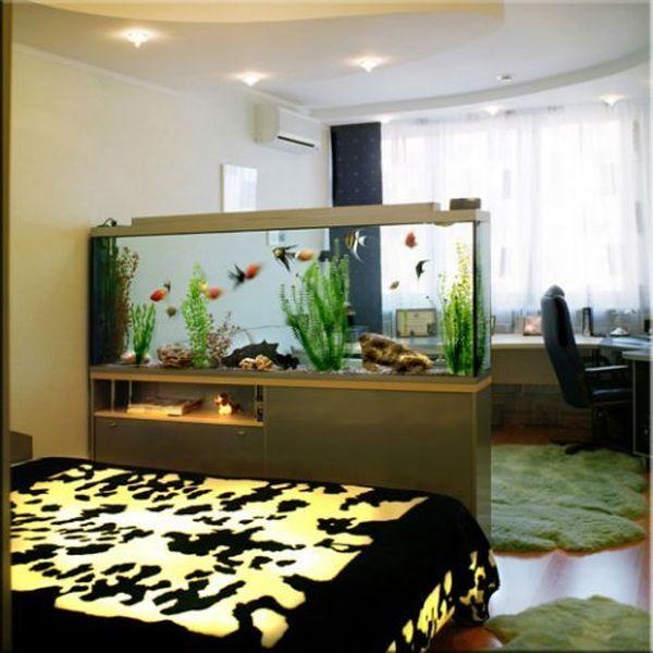 Интерьер с аквариумом фото в квартире