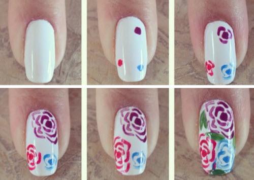 Узоры на ногтях в домашних условиях легкие