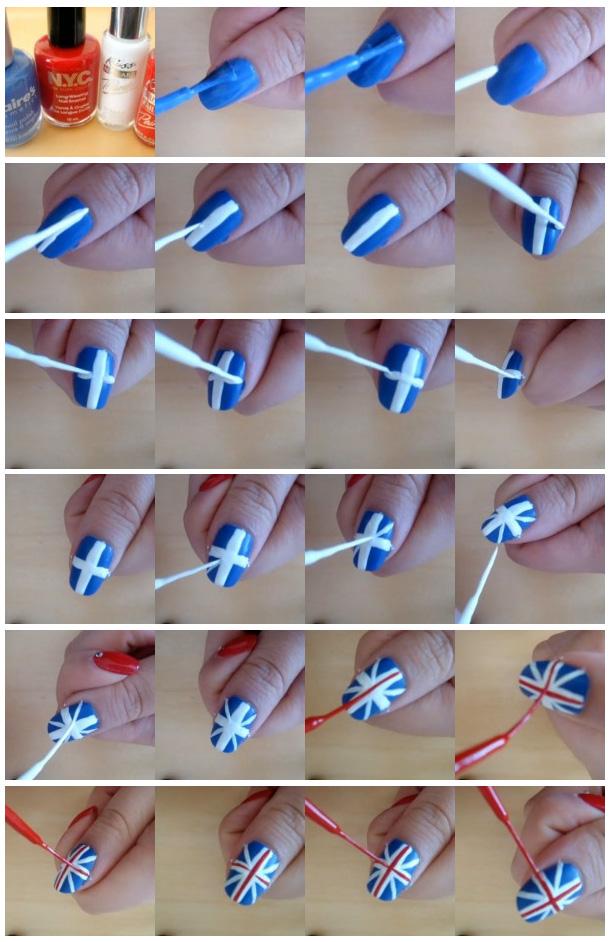 Узоры на ногтя в домашних условиях