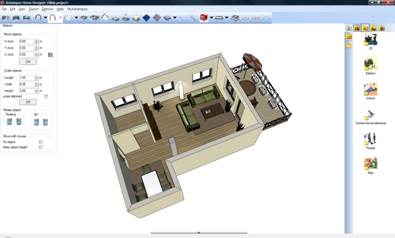Free software 3d home design architect revizionalta for 3d architect free