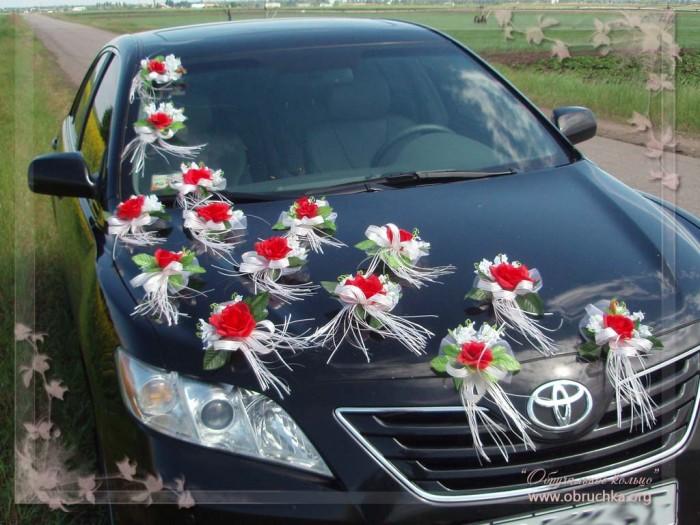 Свадебное украшения для машины своими руками