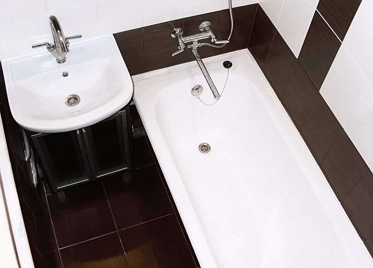 Как сделать в маленькой ванне ремонт фото