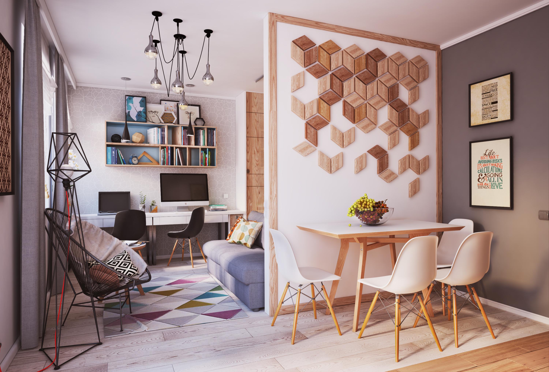 Стильный интерьер маленькой квартиры