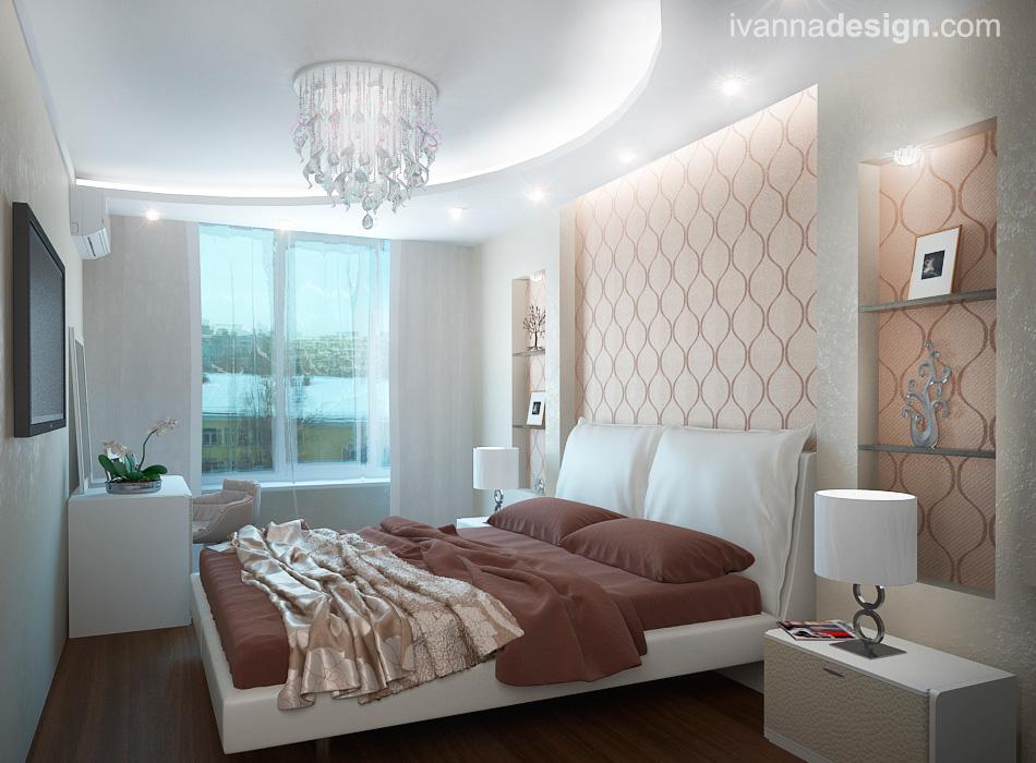 Спальня в светлых тонах: фото дизайна интерьера