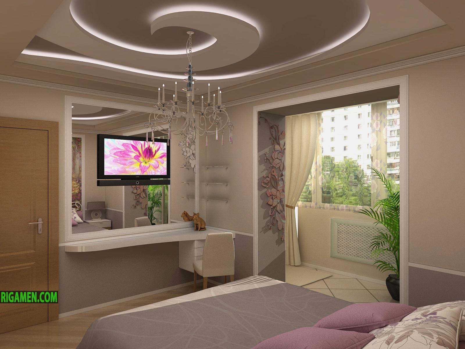 Дизайн спальной комнаты 17 кв.м в панельном доме