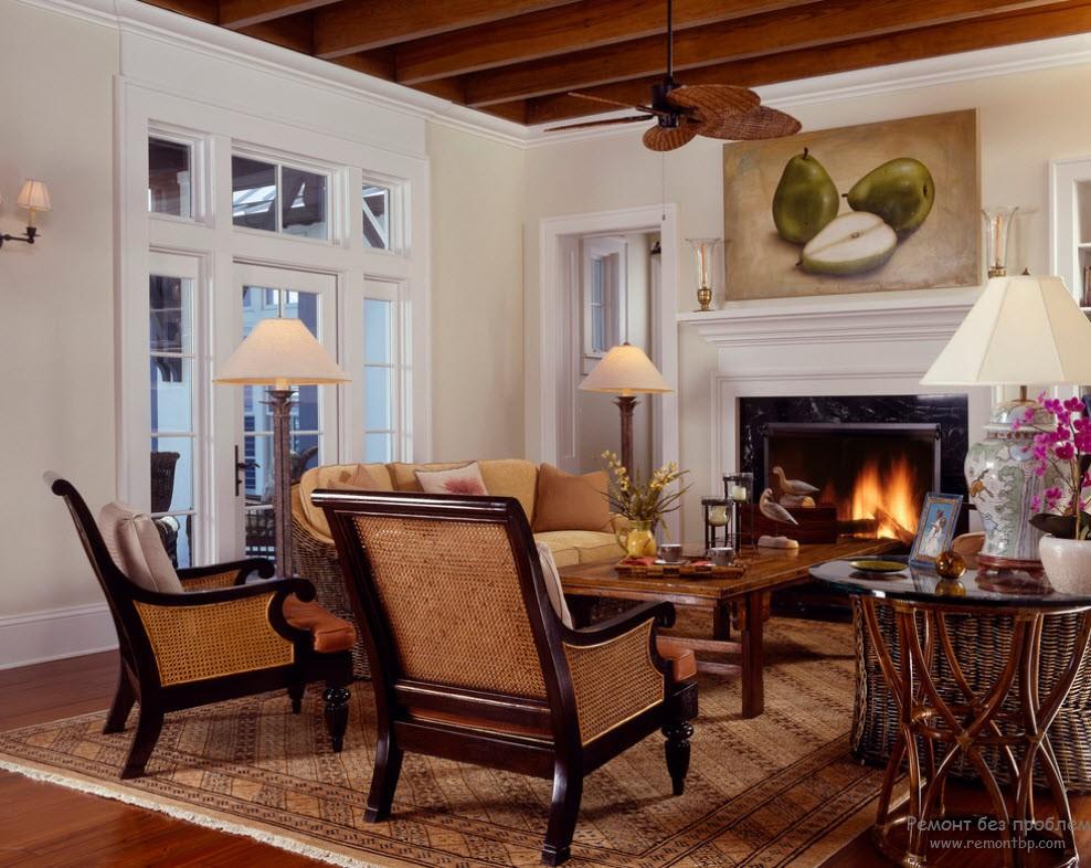 Интерьер дома в колониальном стиле фото