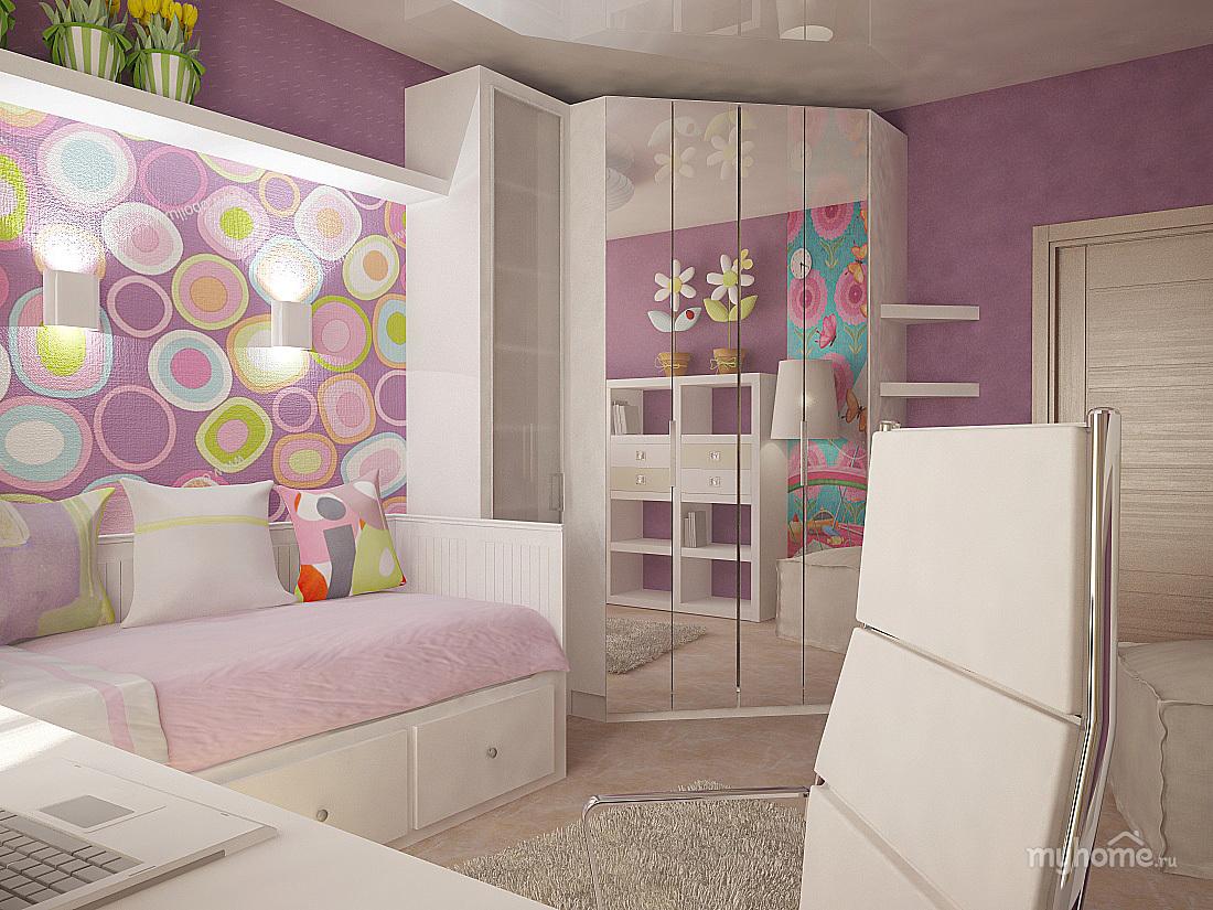 Дизайн комнаты для девочки 7 кв.м