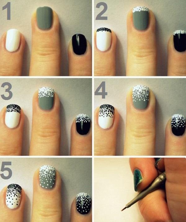 Простой дизайн для коротких ногтей