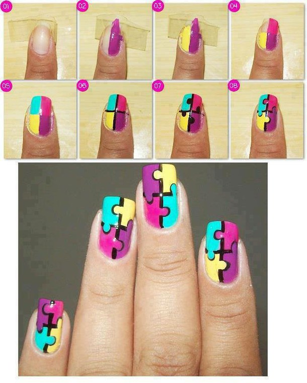 Маникюр на своих ногтях фото своими руками
