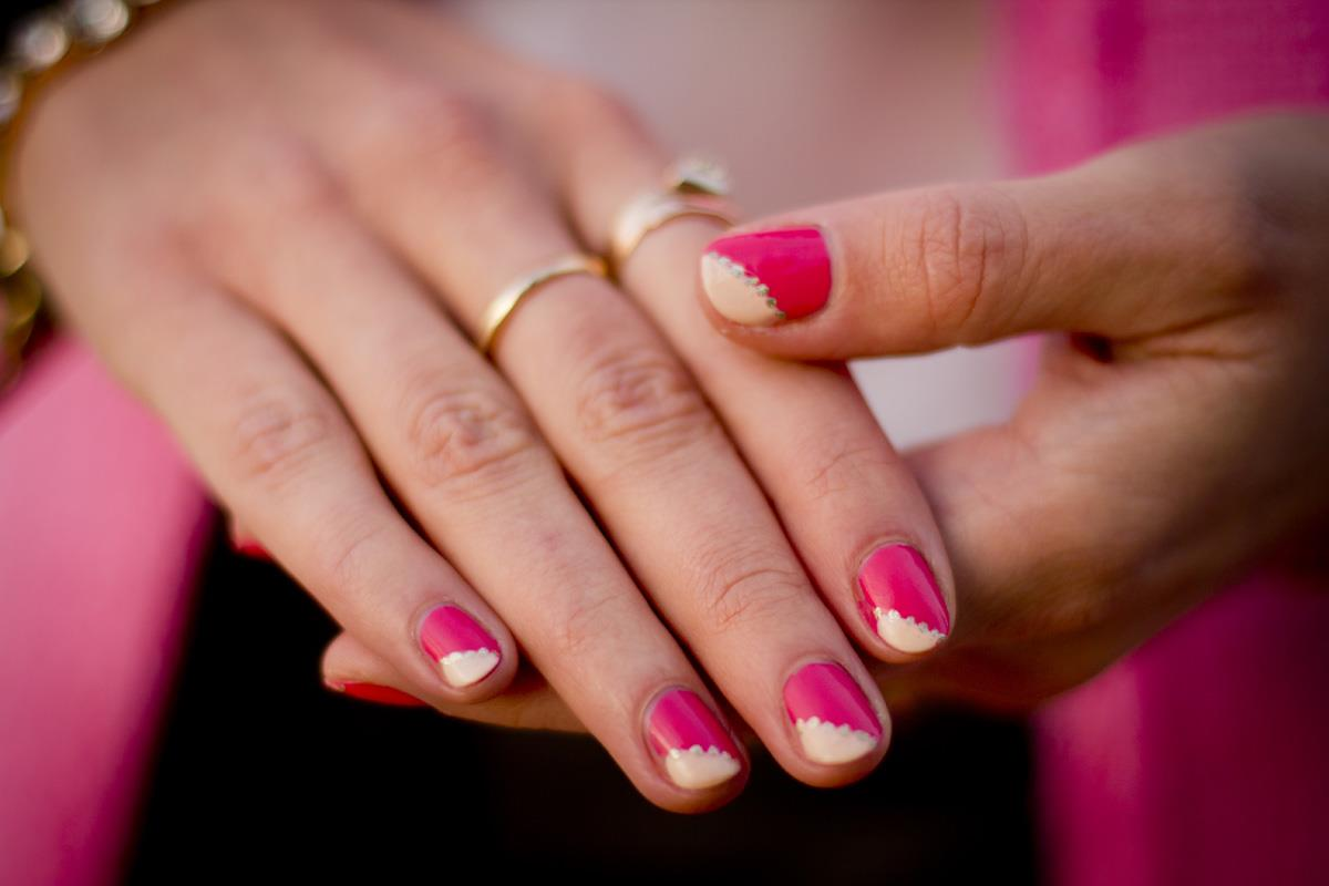 Идея для маникюра на коротких ногтях фото