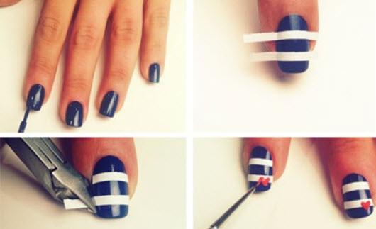 Дизайн для коротких ногтей в домашних условиях